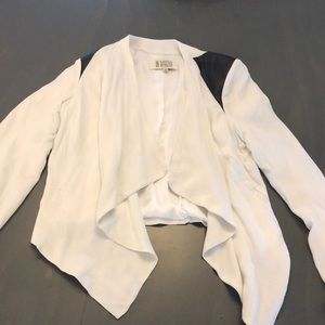 White jacket with black details